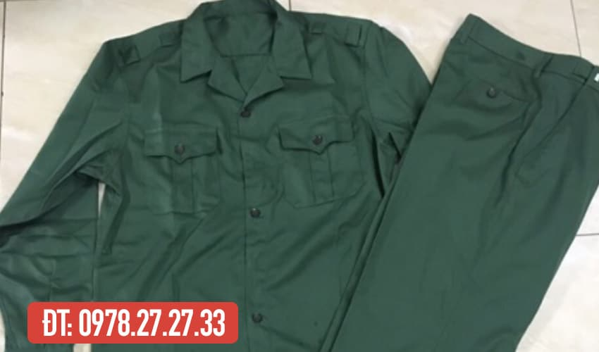 trọn bộ quần áo tập quân sự